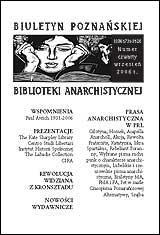 Biuletyn Poznańskiej Biblioteki Anarchistycznej nr 4