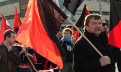 Eugeniusz Poczta podczas demonstracji IP
