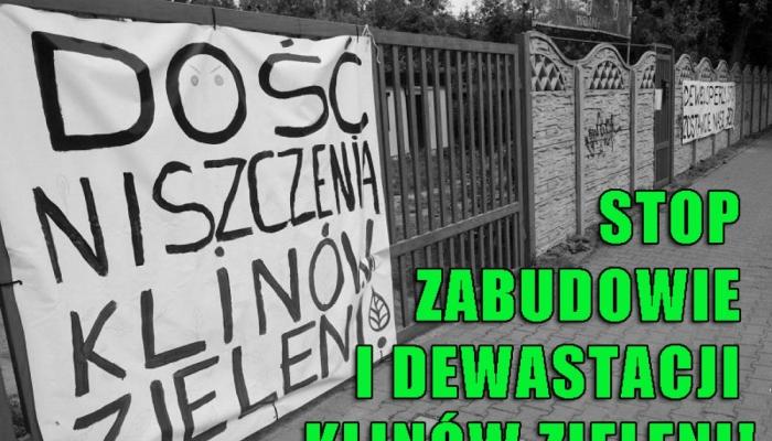 Stop nielegalnej dewastacji zachodniego klina zieleni